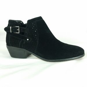 Vince Camuto 8M Black Suede Ankle Bootie B3-2